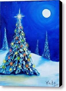 Acrylbilder Modern Selber Malen - 40 original winter paintings on canvas bored