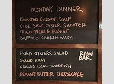 Monday Dinner Specials 11/7   Blue Water Grill