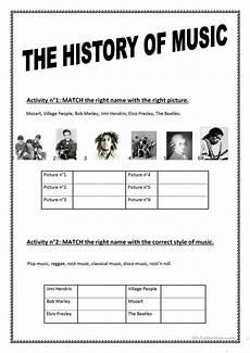 the history of music worksheet free esl printable worksheets made by teachers