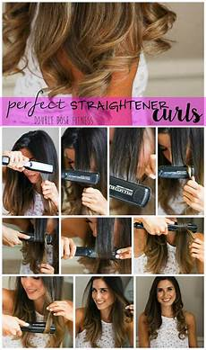 how to easy straightener curls hairstyles curls with