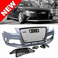 09 12 audi a4 s4 b8 rs4 style front bumper conversion kit w gloss black grilles ebay