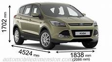 ford kuga abmessungen dimensions of ford cars showing length width and height