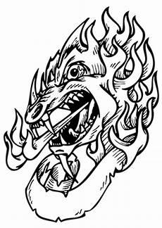 ausmalbilder blutr 252 nstiger drachenkopf drachen malvorlagen