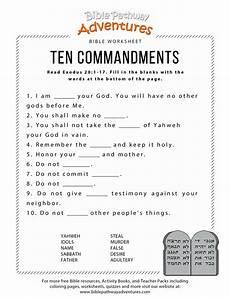 ten commandments worksheet for kids bible activities for kids bible lessons bible activities