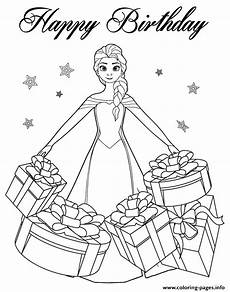 beautiful elsa gifts colouring page coloring pages printable