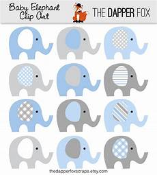 blue and grey elephant clip instant baby
