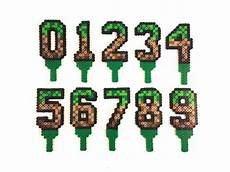 minecraft inspired birthday cake age numbers in 2020 mit