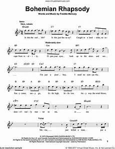 queen bohemian rhapsody sheet music for voice solo pdf
