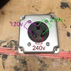 wiring 240v outlet with 120v and 215v how home improvement stack exchange