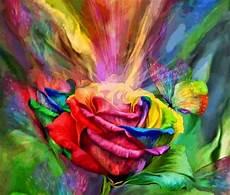 rainbow rose fantasy abstract background wallpapers desktop nexus image 1982670