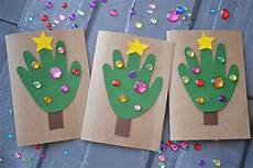 Diy Handprint Tree Cards Blitsy