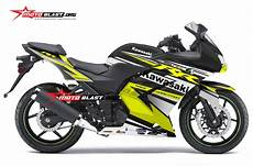 Modifikasi 250 Karbu by Modifikasi Striping Kawasaki 250r Karbu Black Yellow