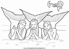 line drawings h2o mermaid coloring pages new at