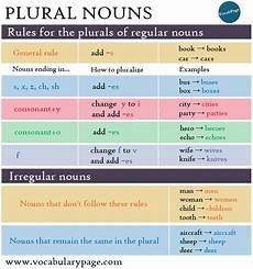vocabularypage com plural nouns