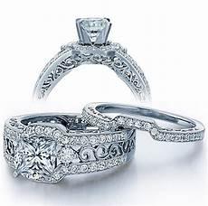 certified 2 carat princess cut diamond vintage wedding ring in white gold jeenjewels