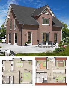 einfamilienhaus neubau mit klinker fassade satteldach