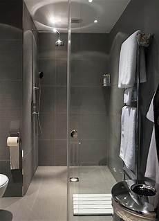 italian style shower entirely grey in modern style