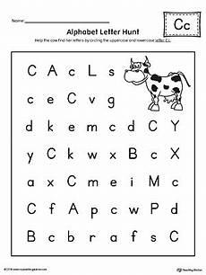 finding letter c worksheets 24054 alphabet letter hunt letter c worksheet myteachingstation