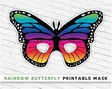 mask rainbow butterfly printable mask