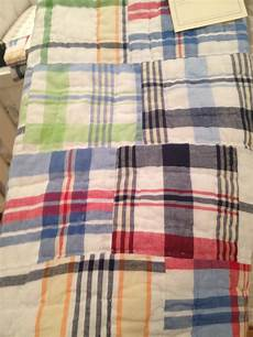 pottery barn madras plaid toddler quilt toddler quilt