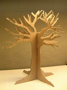 baum basteln pappe the diy thanks giving tree cardboard with tutorial