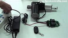 verin electrique 12v effet dc12 v linearaktor wird mit funkfernbedienung gesteuert