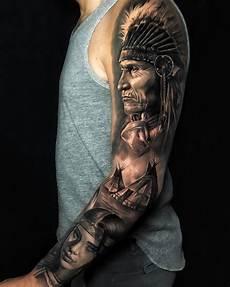 native american sleeve best tattoo design ideas
