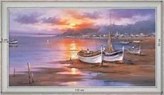 barques de p 234 che au cr 233 puscule tableau d 233 co mer