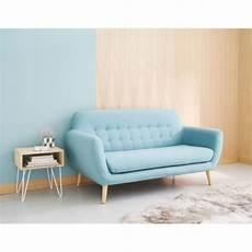 sofa blau skandinavisch skandinavischer sofa 2 3 sitzer blau iceberg maisons du
