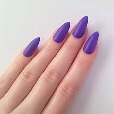 matte purple stiletto nails nail designs by prettylittlepolish