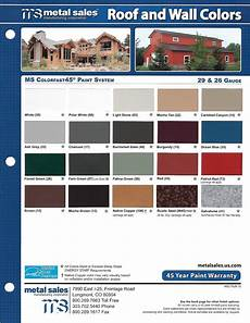 Sheffield Metals Color Chart Quality Metal Roofing 303 420 8538