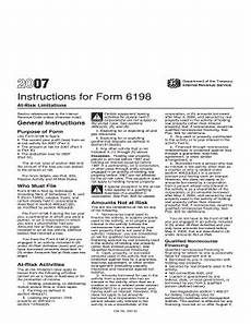 fillable online 2007 instructions for form 6198