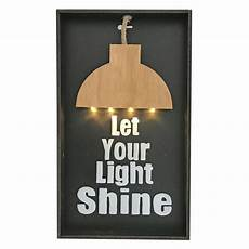 wall light sign with let your light shine light panel brightedn any room with light can be turn