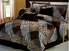 7 pieces multi animal print comforter set king size