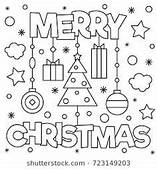 Merry Christmas Coloring Page  Preschool Theme