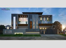 modern elevation rendring in 2019   House outside design