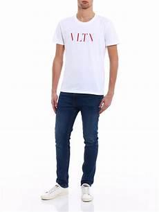 valentino vltn print white t shirt t shirts