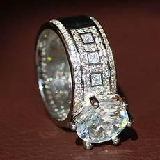 new 925 silver filled white sapphire birthstone engagement wedding ring 5 11 ebay