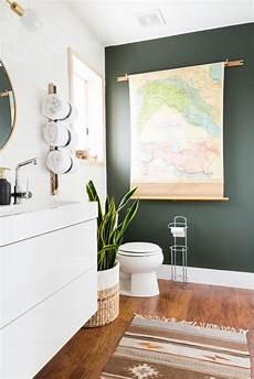 i need some ideas for a bathroom accent add a bold accent wall diy bathroom updates popsugar