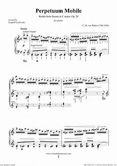 weber perpetuum mobile sheet music for piano solo pdf
