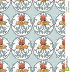 fiori liberty modello di stile liberty con i fiori illustrazione