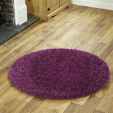 Runder Hochflor Teppich - new purple contemporary shaggy circle 110cm rug ebay