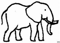 elefant dicker rand ausmalbild malvorlage tiere
