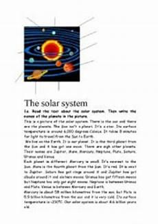 english teaching worksheets solar system