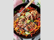 The BEST Chicken Fajitas with Chipotle Lime Crema