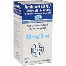 festsitzender schleim in den bronchien ambrohexal ambroxol hustensaft f 252 r kinder hustenl 246 ser