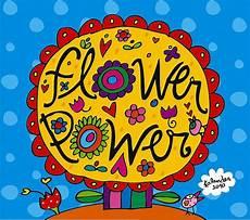 flower power 70er illustrations calender 2010 groovy 60 s 70 s