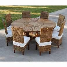 table de jardin ronde grande table ronde de jardin en teak massif real table