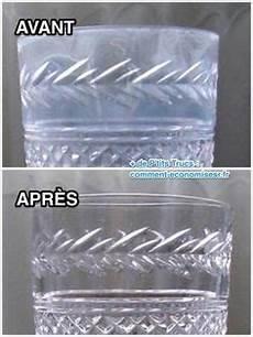comment enlever le calcaire sur les verres le truc magique pour faire dispara 238 tre le voile blanc sur