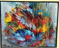modeles peintures abstraites tableau abstrait peinture acrylique bouquet de couleurs